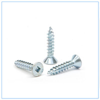 Flat HD Steel Screws 12g x 88mm Zinc PL Qty 50